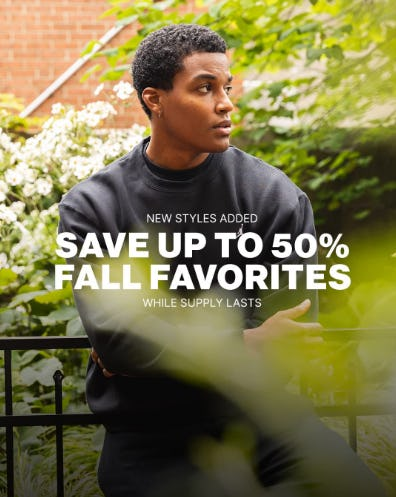 Save Up to 50% on Fall Favorites from DTLR