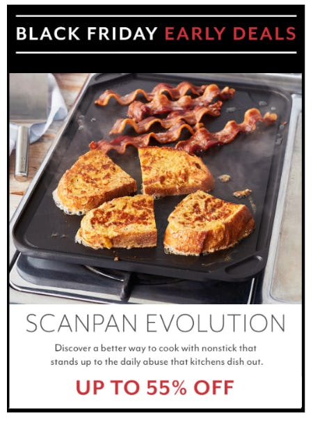 Black Friday Early Deals: Up to 55% Off Scanpan Evolution from Sur La Table
