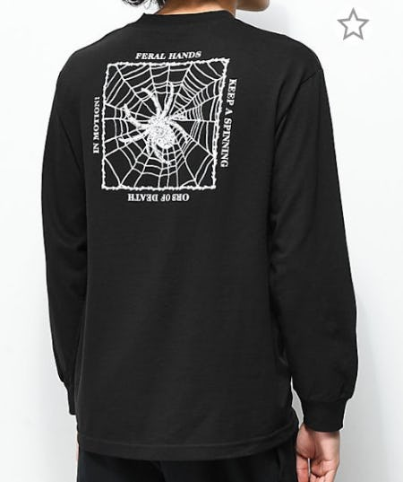 Deathworld Gossamer Black Long Sleeve T-Shirt from Zumiez