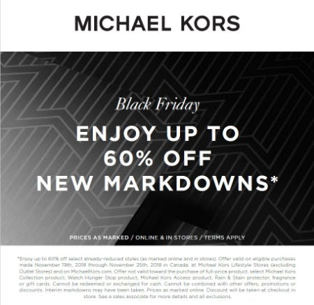 Black Friday Sale from MICHAEL KORS