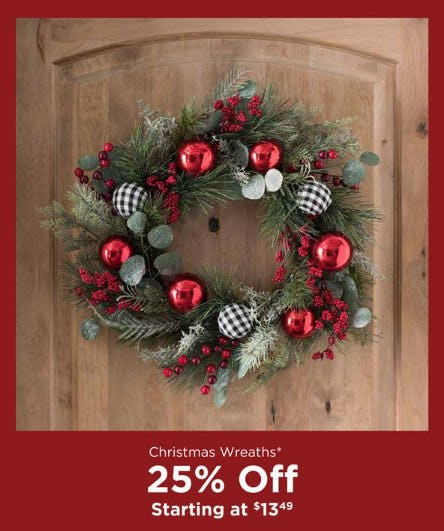 Christmas Wreaths Starting at $13.49 from Kirkland's