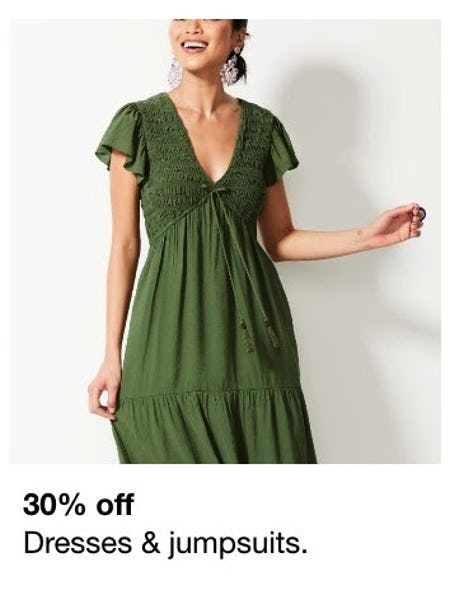 30% Off Dresses & Jumpsuits from Macy's Men's & Home & Childrens