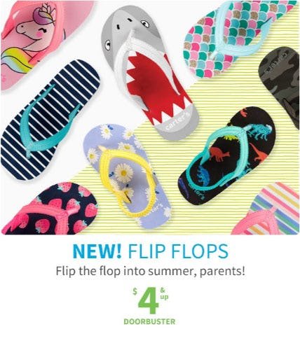 Flip Flops $4 & Up from Carter's