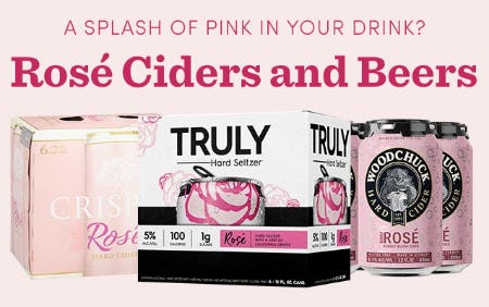 Rose Ciders and Beers