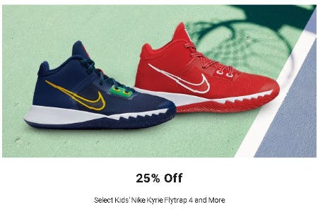 25% Off Select Kids' Nike Kyrie Flytrap 4 and More