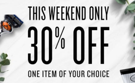 30% Off One Item of Your Choice from The Art of Shaving