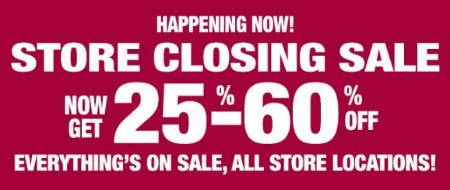 Store Closing Sale: Now Get 25%-60% Off from Dressbarn