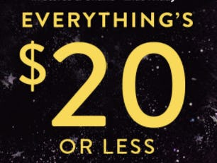 Black Friday Everything $20 Or Less