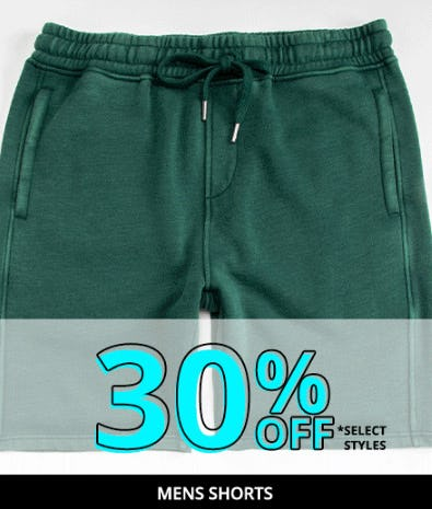 30% Off Mens Shorts