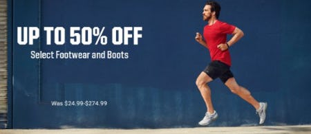 Up to 50% Off Select Footwear and Boots from Dick's Sporting Goods