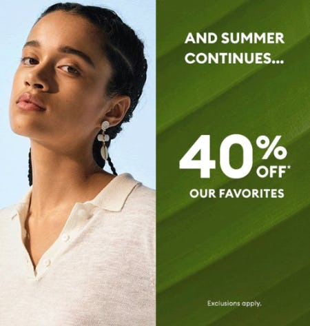 40% Off our Favorites