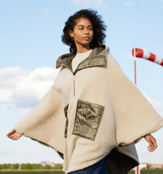 The Quilted Reversible Poncho from Scotch & Soda