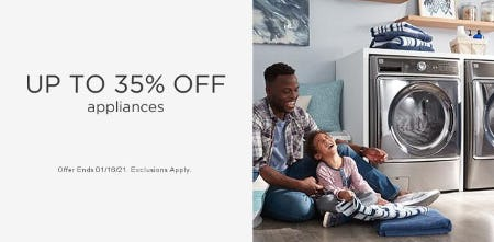 Up to 35% Off Appliances from Sears
