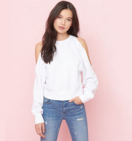 Cold Shoulder '80s Sweatshirt from Garage