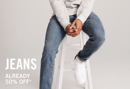 50% Off Jeans from Abercrombie & Fitch