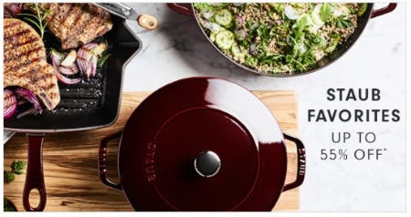 Staub Favorites up to 55% Off