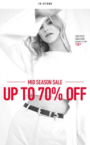 Mid Season Sale - Up To 70% Off