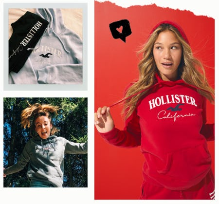 Be Iconic in Hoodies & Sweatshirts from Hollister Co.