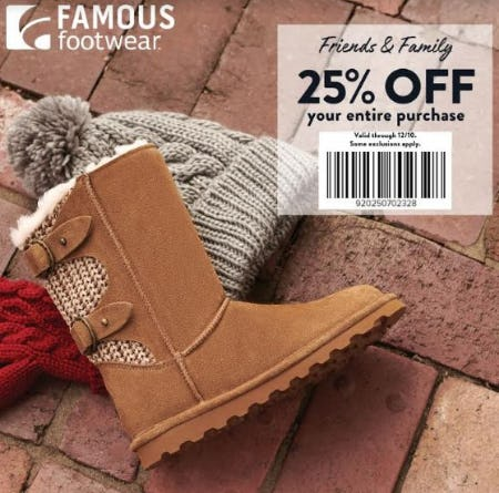 FRIENDS & FAMILY EVENT from Famous Footwear