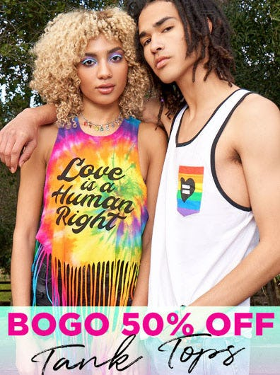 BOGO 50% Off Tank Tops from Spencer's Gifts
