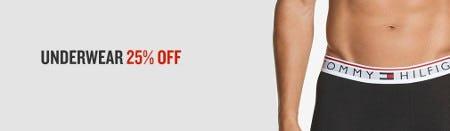 Underwear 25% Off from Finish Line