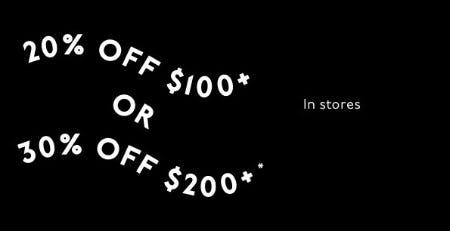 Up to 30% Off with $200+ Purchase from Madewell