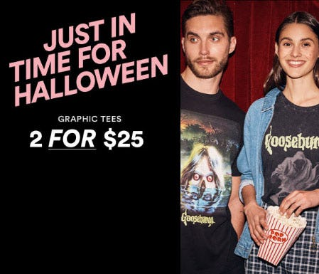 2 for $25 Graphic Tees from Cotton On