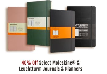 40% Off Select Moleskine & Leutturm from Barnes & Noble Booksellers