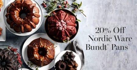20% off Nordic Ware Bundt Pans