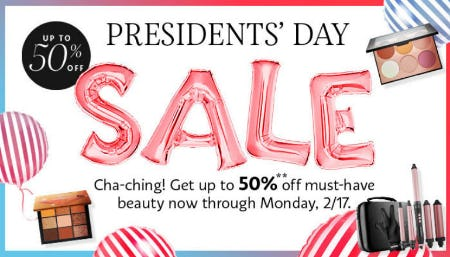 Up to 50% Off Presidents' Day Sale from SEPHORA