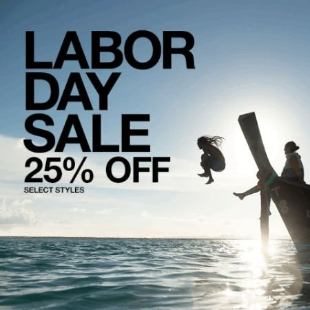 Labor Day Sale: 25% Off from The North Face