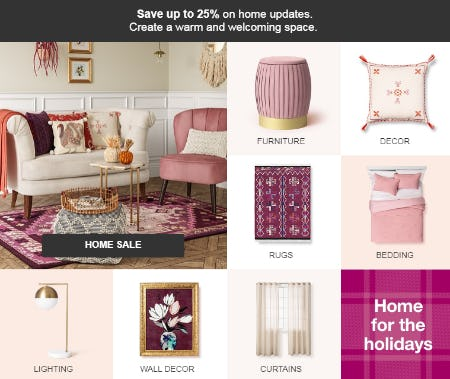 Save up to 25% on Home Sale from Target