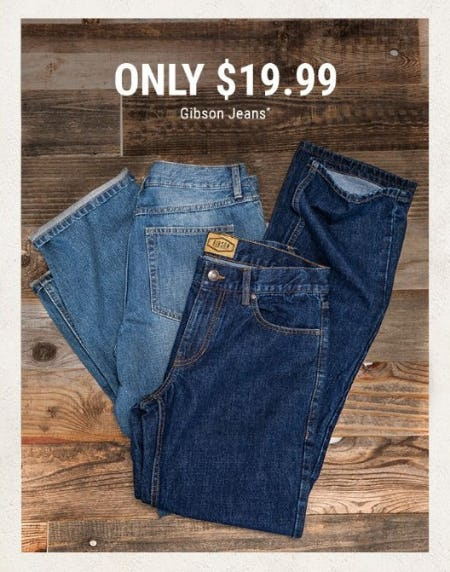 Only $19.99 Gibson Jeans from Boot Barn Western And Work Wear