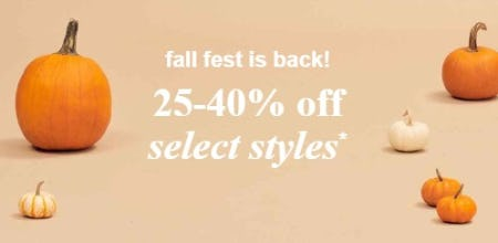 25-40% Off Select Styles from Abercrombie Kids
