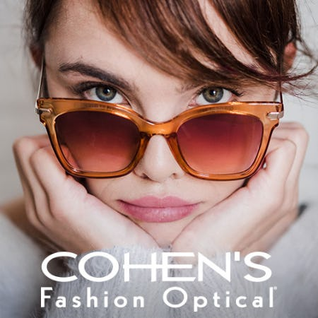 30% Off Designer Rx Sunglasses* from Cohen's Fashion Optical