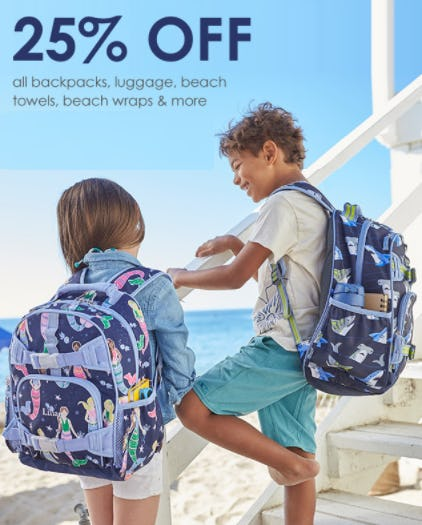 25% Off All Backpacks & More from Pottery Barn Kids
