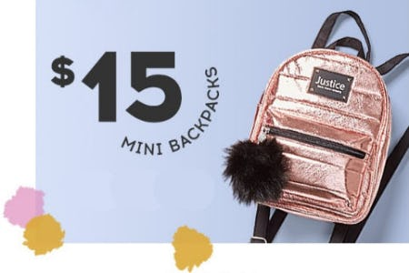 $15 Mini Backpacks from Justice