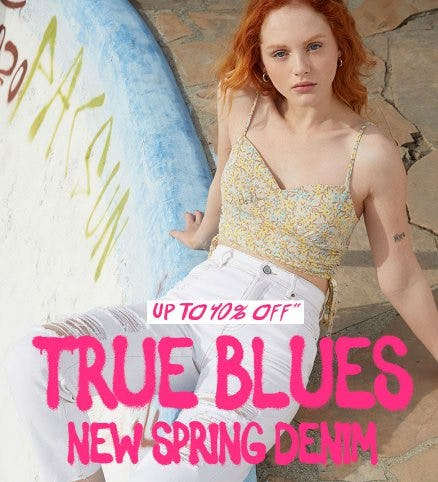 Up to 40% Off New Spring Denim from PacSun