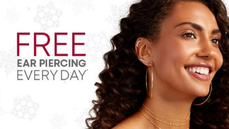 Free Ear Piercing Every Day from Piercing Pagoda