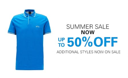 Summer Sale: Now Up to 50% Off from Boss