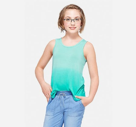 Ombre Keyhole Back Tank from Justice