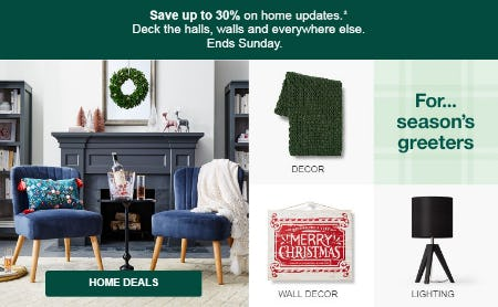 Up to 30% Off Home Updates from Target