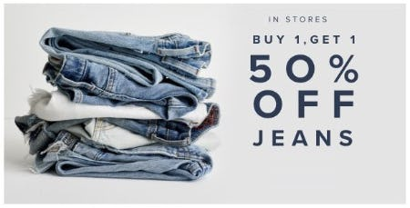 BOGO 50% Off Jeans from Lucky Brand Jeans