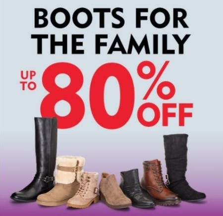 Boots for the Family up to 80% Off