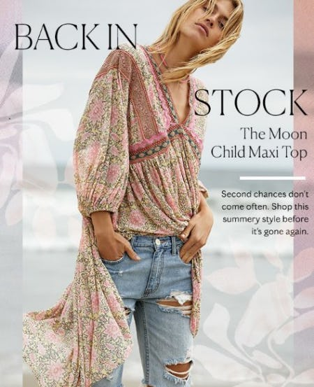Back in Stock: The Moon Child Maxi Top from Free People