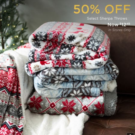 50% Off Select Sherpa Throws from Kirkland's Home