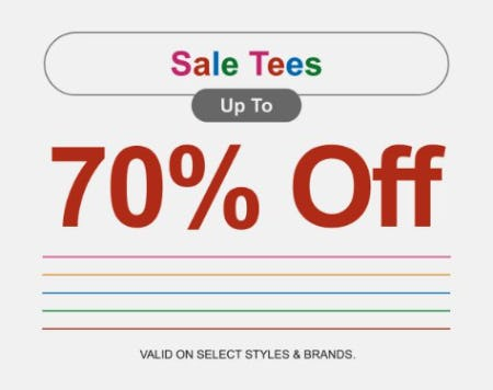 Sale Tees up to 70% Off