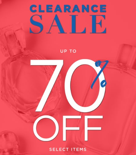 Up to 70% Off Clearance Sale from Perfumania