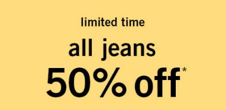 All Jeans 50% Off from abercrombie