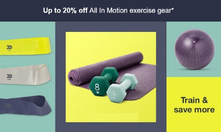 Up to 20% Off All In Motion Exercise Gear